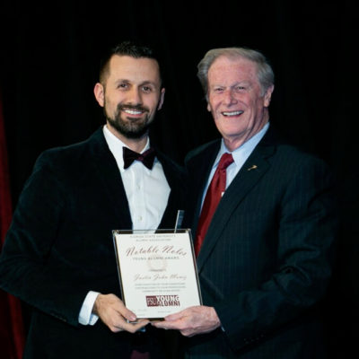 Justin John Moniz receives award from Florida State University