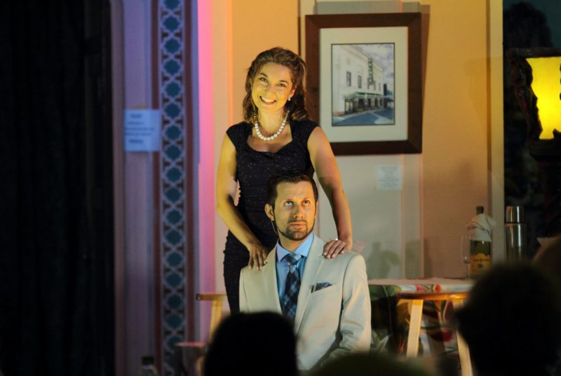 Moniz and fellow actor perform in A Night at the Stork Club