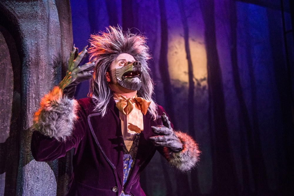 Justin as the Wolf in Into the Woods