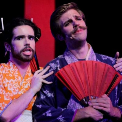 Justin Moniz performs in The Mikado