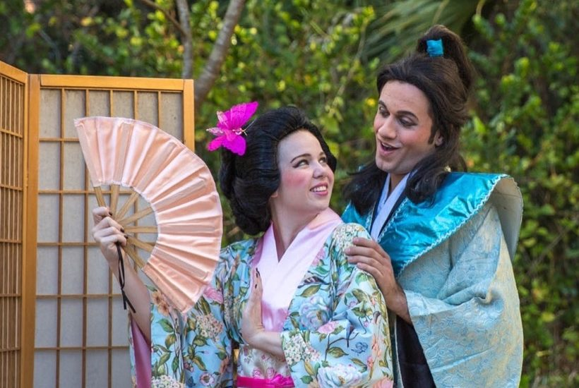 Justin and fellow performer in The Mikado