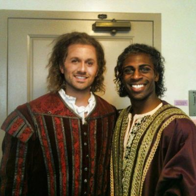 Justin and fellow performer in Verdi's Otello